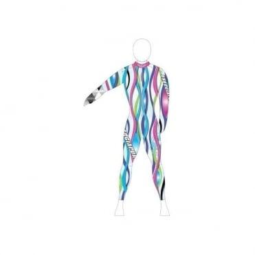 Unpadded Ski Race Catsuit Wave Multi-Pastel