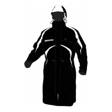 Energiapura Ski Race Raincoat /Storm Jacket /Coaches Coat Black/White