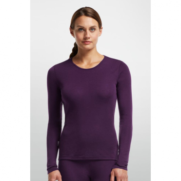 Wmns Base Layer Everyday Ls Crewe - Vino Red