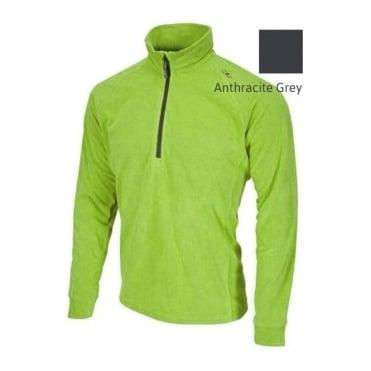 Mens Mid Layer Grid Tech Fleece - Anthracite Grey