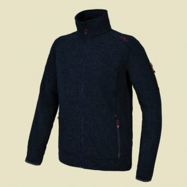 Mens Mid Layer Knitted Jacket - Smoked Blue
