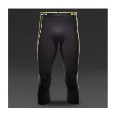 Mens A200 thermal 3/4 Tight - Black/Yellow
