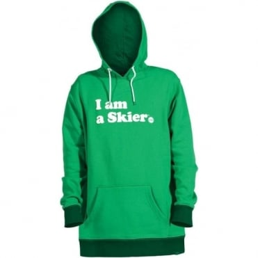 Mens I Am A Skier Pullover - Green
