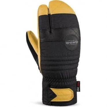 Unisex 3 Finger Fillmore Trigger Mitten - Black/Yellow