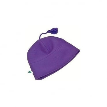 Micro-Fur Stretch Tassel Hat - Purple