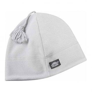 Micro-Fur Stretch Tassel Hat - White