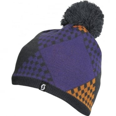Beanie The Patchwork - Ink Grey/Violet