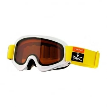 Head Goggle Junior Stivot Race White Yellow
