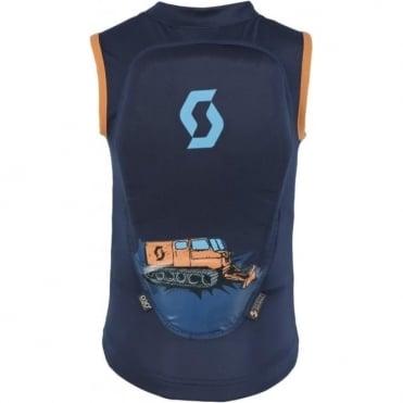 Junior Print Vest Back Protector - Blue/Orange
