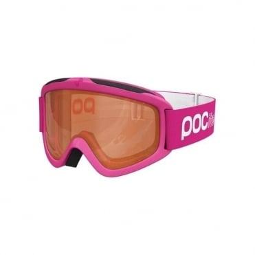 Junior Pocito Iris Goggles - Fluorescent Pink with Sonar Orange Lens