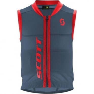 Junior Vest Actifit Back Protector - Eclipse Blue/Burnt Red