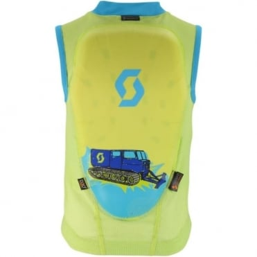 Junior Actifit Print Vest Back Protector - Navy Macew Green/Bermuda Blue