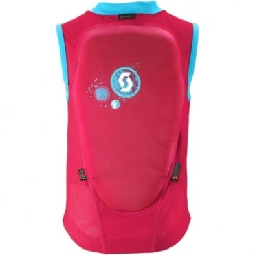 Junior Actifit Print Vest Back Protector - Navy Berry Pink/Bermuda Blue