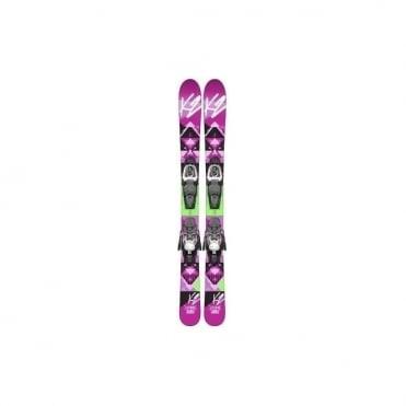 K2 Luv Bug Skis 124cm + Fastrak2 4.5 Binding (2015)