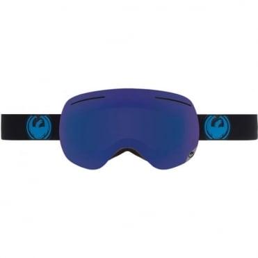 X1 Goggles - Jet Blue/ Dark Smoke Blue Ionized Lens + Yellow Red Bonus Lens