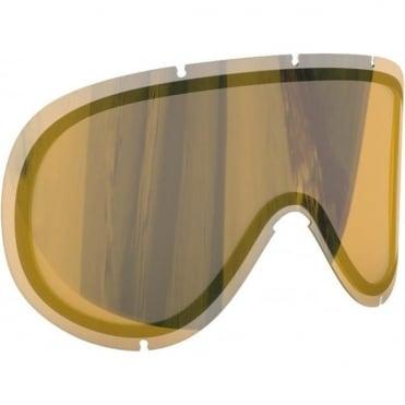 Retina Big Goggle Lens - Clear/Gold Mirror