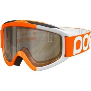 Iris Comp Race Goggles (Small)- Zink Orange with Smokey Yellow and Transparent Bonus Lenses
