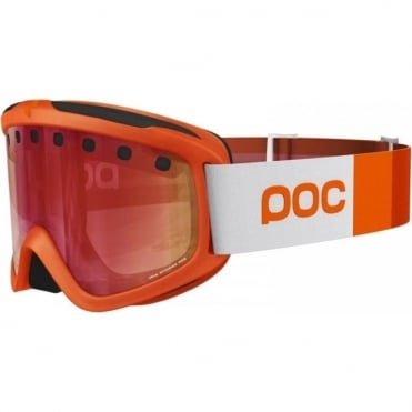 Iris Stripe Goggles (Small) - Corp Orange with Persimmon/Red Mirror Lens