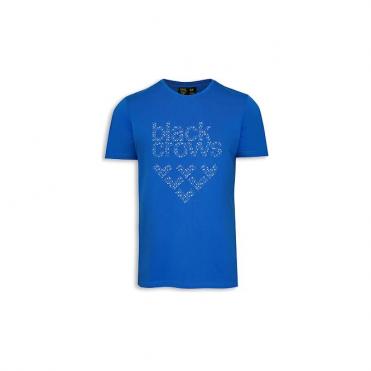 Mens Black Crows Speckle T-shirt - Blue