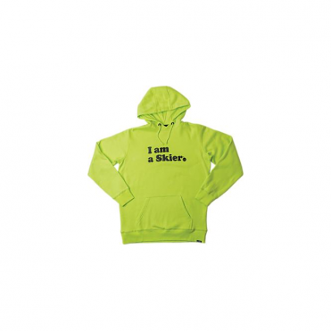Mens I Am A Skier Pullover - Yellow