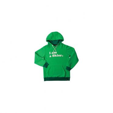 Womens I Am A Skier Hoodie - Green