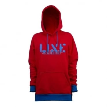 Mens Stance Pull Over Hoodie - Red