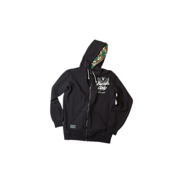 Mens Benchmark Full Zip Hoodie - Black
