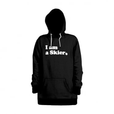 Mens I Am A Skier Pullover - Black