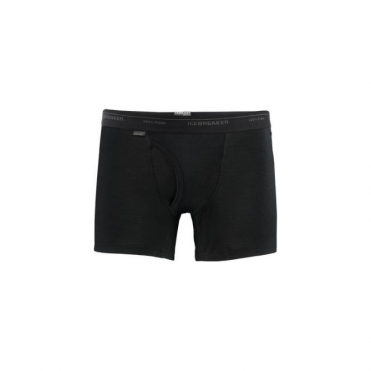 Men's Everyday Boxers w Fly - Black