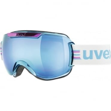 Downhill 2000 Race Goggles - Cyan/Pink Chrome