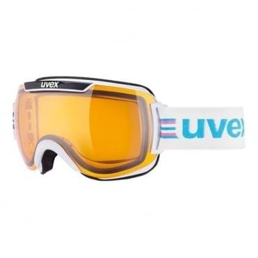Downhill 2000 Race Goggles - White/Black with Lasergoldlite Lens Cat. S1