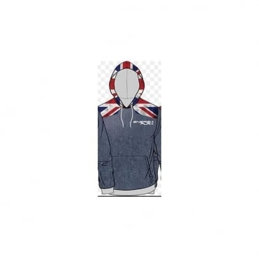 Energiapura Adult Saffle Sweatshirt GB Flag Hoodie / Jeans Stonewashed