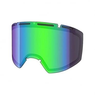 Amazify Double Goggle Lens - Acid Reflect Smoke (Smoke / Green Mirror)
