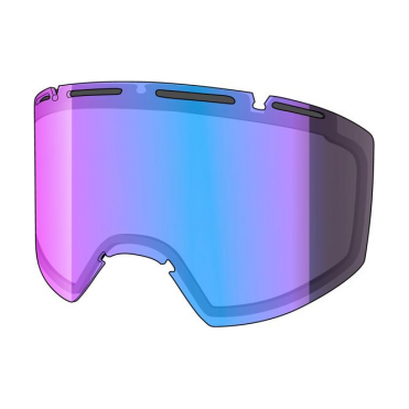 Amazify Double Goggle Lens - Frozen Reflect Smoke (Smoke / Blue Multilayer)
