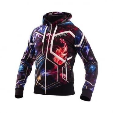 Light Training Jacket with Hood COLOR - Smoke/Black