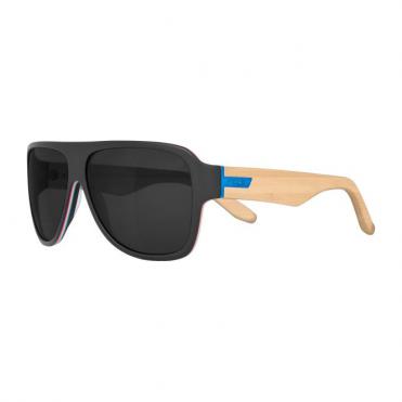 Mavs Shrastawood Sunglasses - Black/Wood