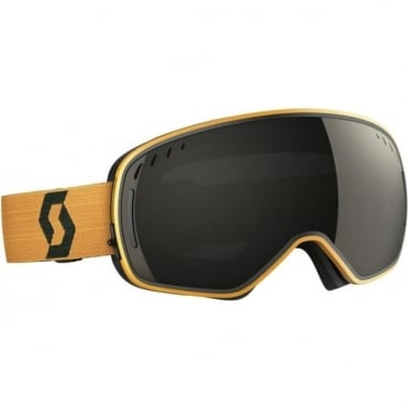 LCG Goggles - Black/Mustard Yellow with Solar Black Chrome Lens + Illuminator Blue Chrome Bonus Lens