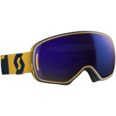 LCG Goggles - Coral Blue/Citrus Yellow with Solar Blue Chrome Lens + Illuminator Red Chrome Bonus Lens