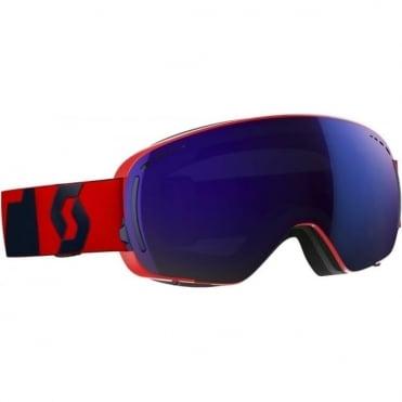 LCG Compact Goggles - Fluo Red/Eclipse Blue with Solar Blue Chrome +Illuminator Red Chrome Bonus Lens (last one)