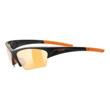 Uvex Sunglasses Sunsation Black/Orange Orange Lens