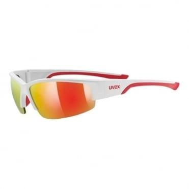 Uvex Sportstyle 215 White Matt/Red