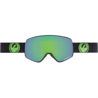 Nfx2 Goggles - Jet / Green Ion + Yellow Blue Ion Bonus Lens