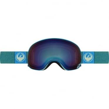X1s Goggles - Hone Blue / Optimized Flash Blue + Optimized Flash Green Bonus Lens