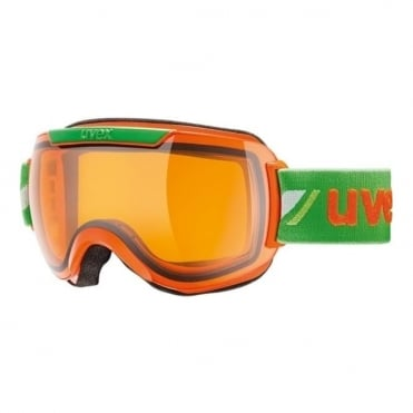 Downhill 2000 Race Goggle - Orange/Green with Laserlight Lens Cat 1