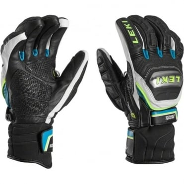 World Cup Race Glove Titanium Trigger-S Speed System - Black/Cyan