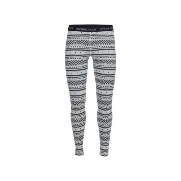 Wmns Vertex Legging Icon Fairisle - Snow White/Grey