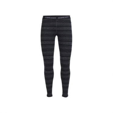 Wmns Vertex Legging Icon Fairisle - Jet Heather Grey