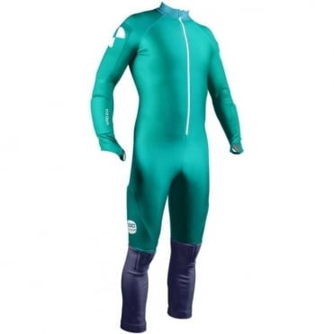 Padded Ski Racing Catsuit GS Skin - Julia Blue