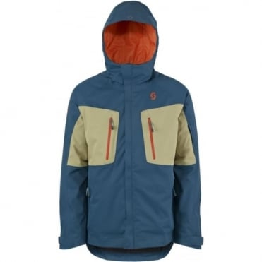 Mens Ultimate Dryo Plus Tech Jacket - Eclipse Blue / Sahara Beige