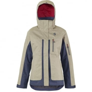 Wmns Ultimate Dryo Sand Tech Jacket - Sand Grey / Blue Nights Hea